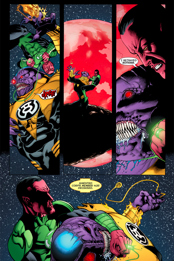 Sinestro Using A Garrote To Kill