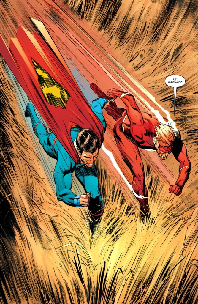 Superman (New Earth) Remembers Wally West (New Earth)