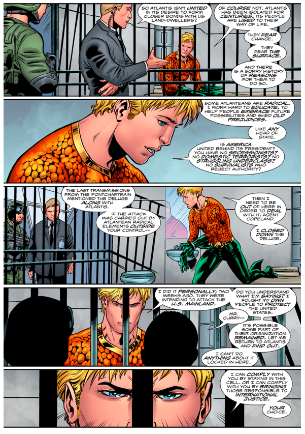 Aquaman Compares Atlantis And The United States