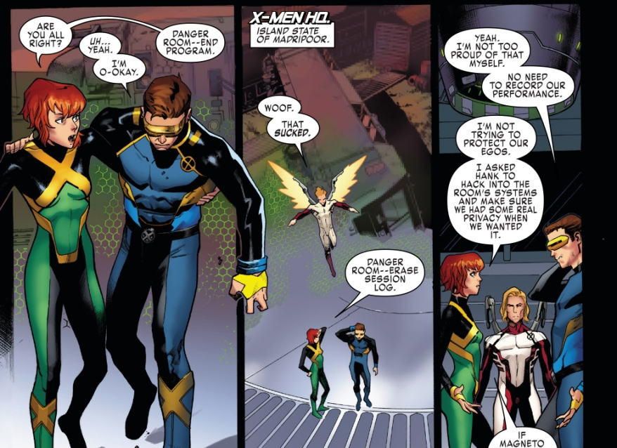 Jean Grey, Angel And Cyclops VS Magneto