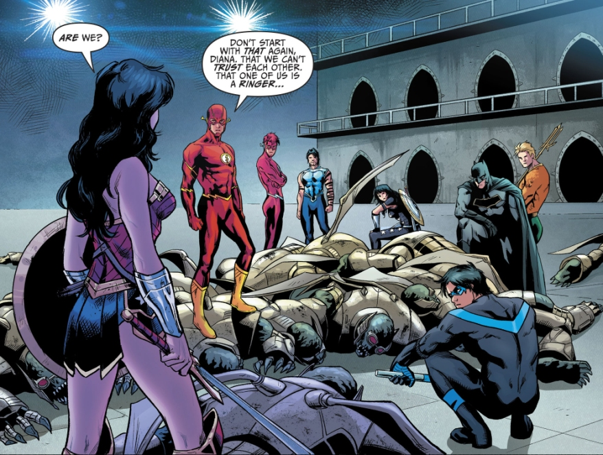 Justice League And Titans VS Parademons
