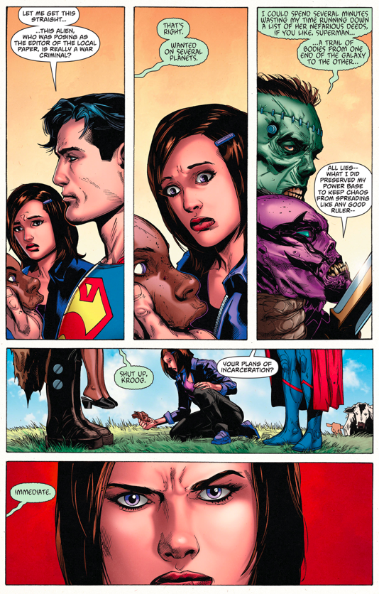 Lois Lane Punches Kroog
