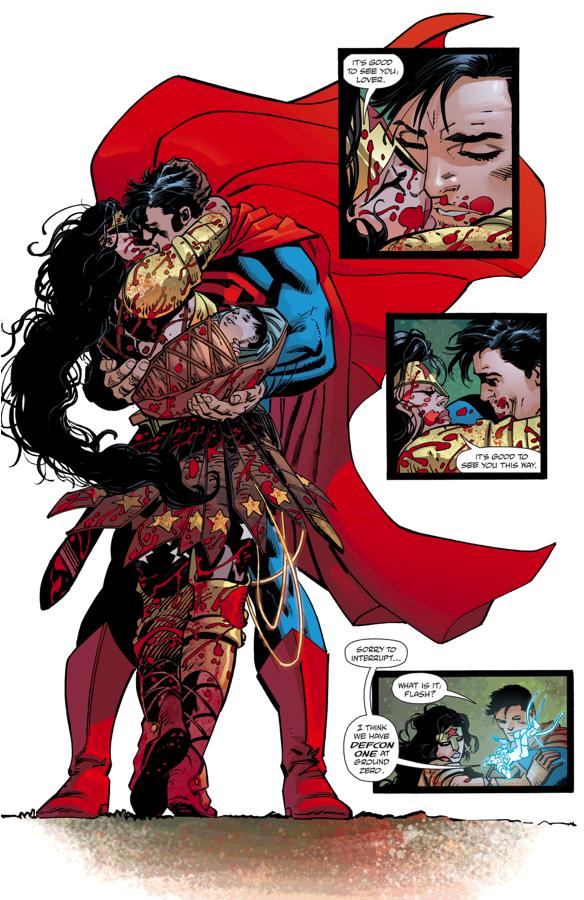 Superman Kisses Wonder Woman (The Master Race)