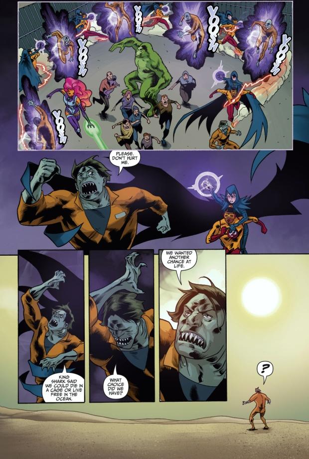 Teen Titans VS Shark Mutants