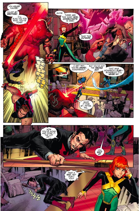The Original 5 X-Men VS The Juggernaut