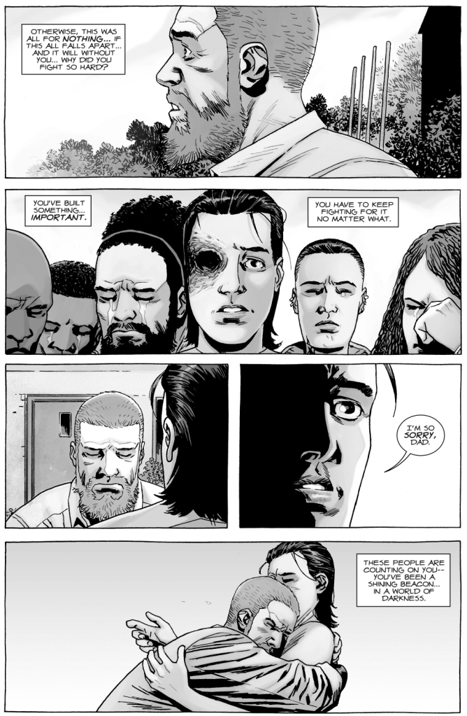 A Grieving Rick Grimes Receives Support From Friends