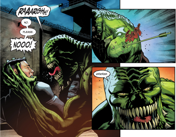 Batgirl, Black Canary And Green Arrow VS Killer Croc (Injustice II)