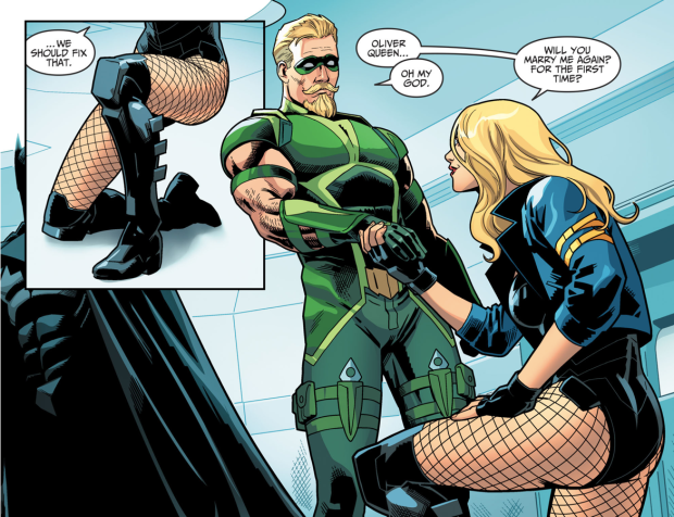 Black Canary Proposes To Green Arrow Injustice Ii