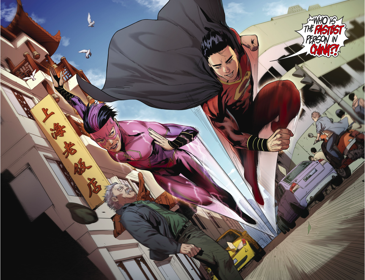 ... Chinese Superman And A Flash Race Each Other ...