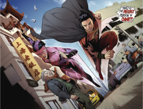 Chinese Superman And A Flash Race Each Other