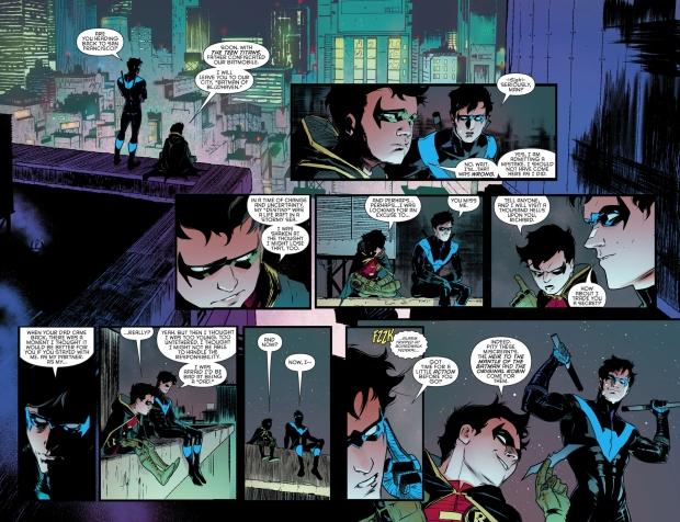 Dick Grayson And Damian Wayne Bonding (Rebirth)