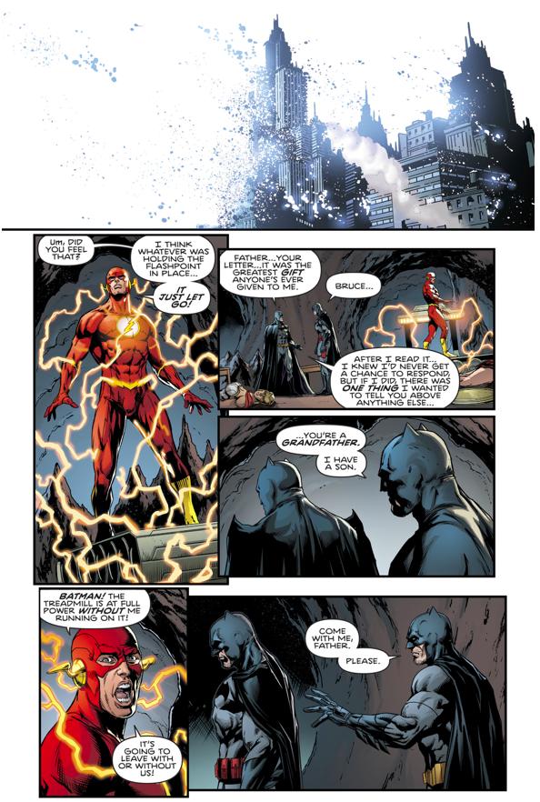 Flashpoint Batman's Final Words To His Son Bruce Wayne