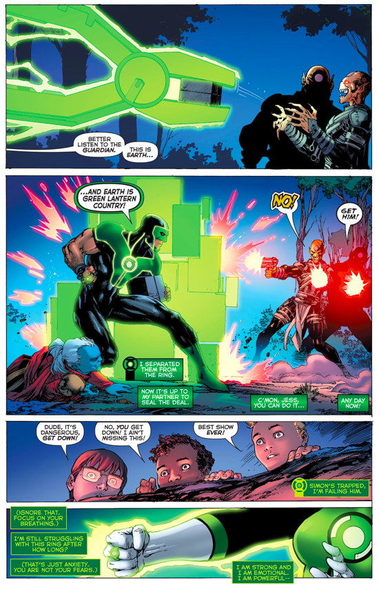 Green Lantern Jessica Cruz Takes Down The Dominators