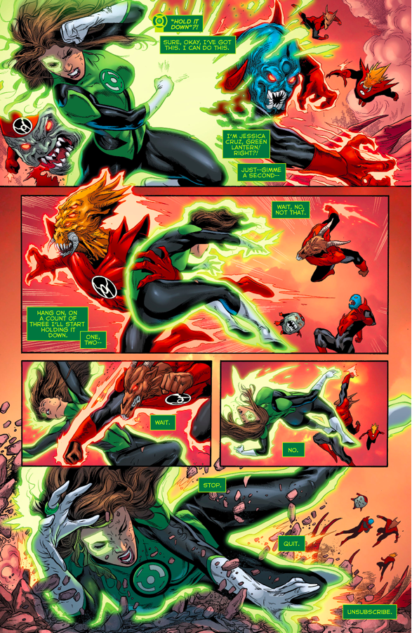 Green Lanterns vs. Yellow Lanterns in Earth One Vol. Two ...