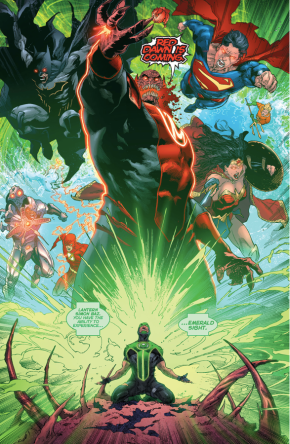 Green Lantern Simon Baz Has A Vision Of Red Dawn