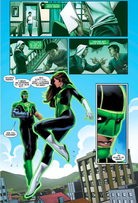 Green Lantern Simon Baz Reconciles With His Mom