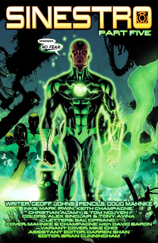 Green Lantern Sinestro (Green Lantern #5)