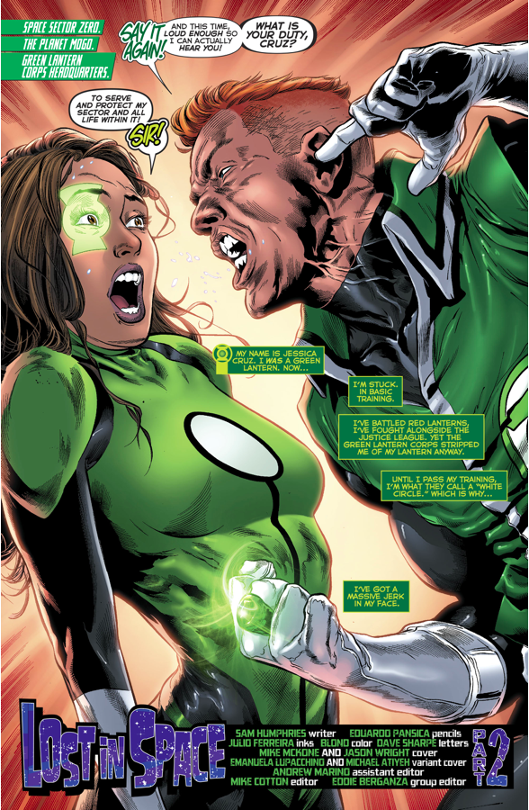 Guy Gardner Trains Jessica Cruz