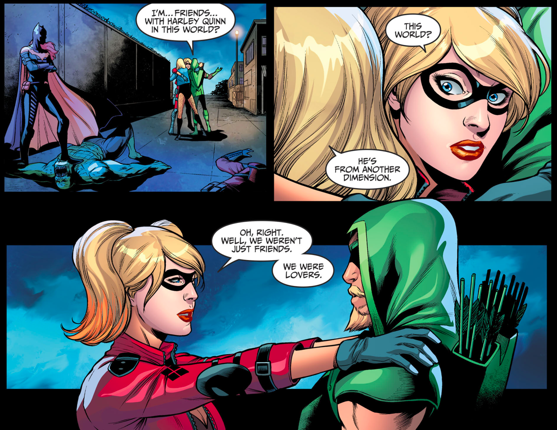 harley quinn and green arrow were lovers injustice ii