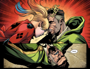 Harley Quinn Head Butts Ra's al Ghul (Injustice II)