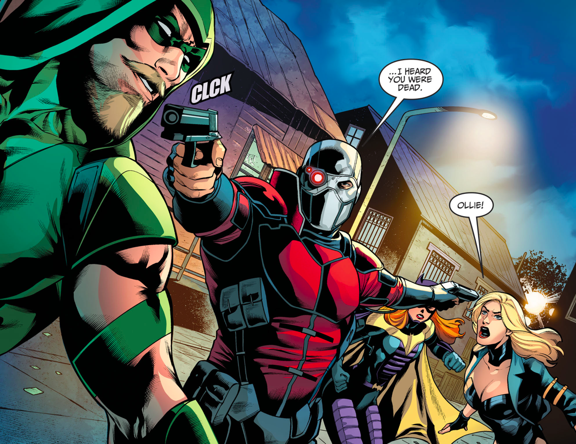 harley quinn�s reunion with green arrow and black canary