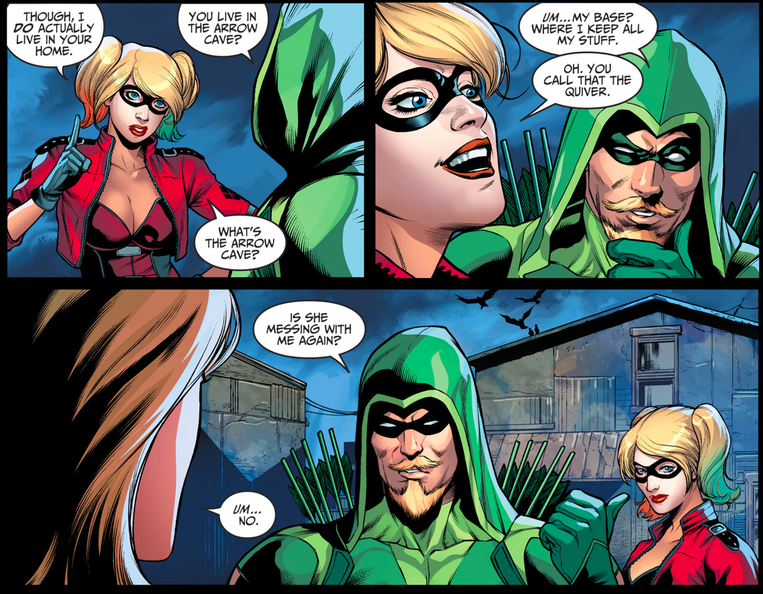 how harley quinn changed the arrow cave into the quiver
