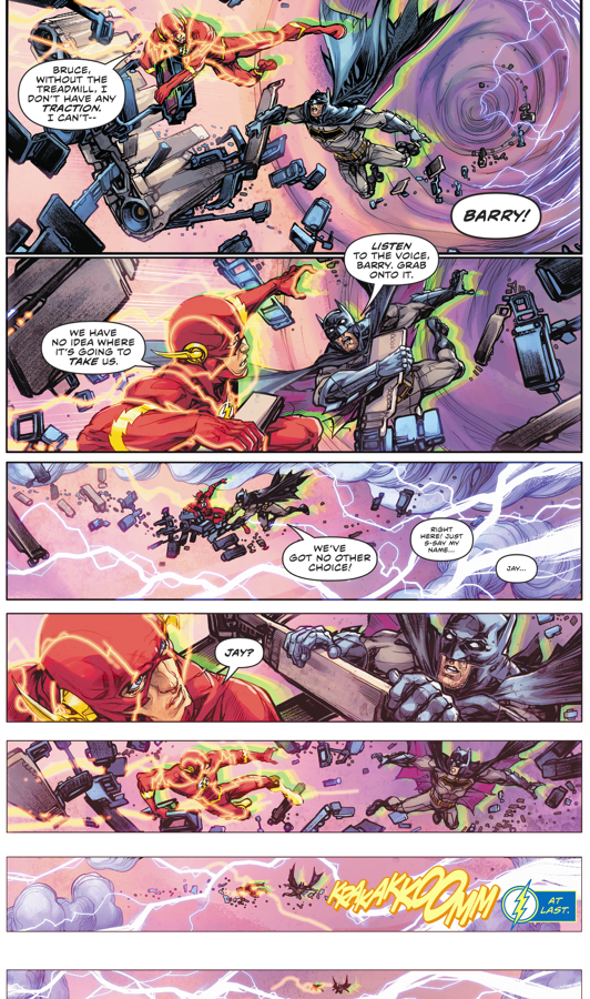 Jay Garrick Rescues The Flash And Batman (Rebirth)