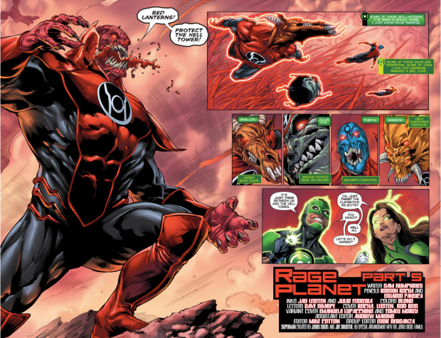 Jessica Cruz And Simon Baz VS The Red Lantern Corps