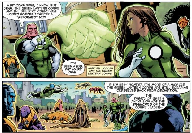 Jessica Cruz Meets The Green Lantern Corps
