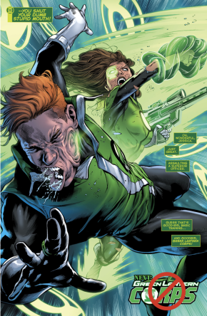 Jessica Cruz Punches Guy Gardner
