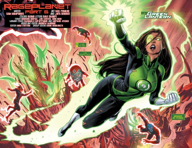 Jessica Cruz's First Green Lantern Construct