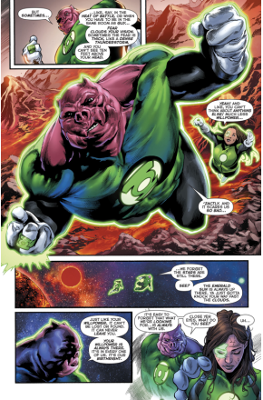 Kilowog Describes Will Power To Jessica Cruz