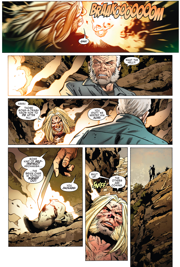 Old Man Logan And Sabretooth VS Adamantium Cyborgs
