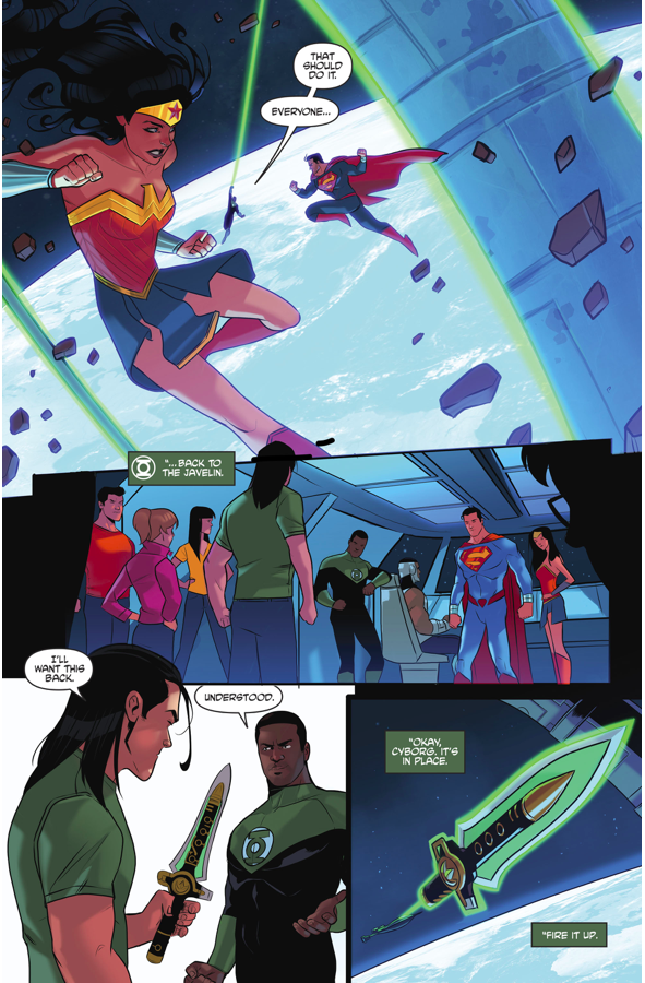 Superman And Wonder Woman Lifts The Large Hadron Collider