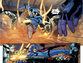 Blue Beetle VS Nightwing, Katana And Deadshot (Injustice II)