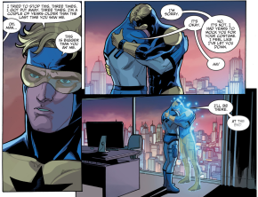 Booster Gold Says Good Bye To Blue Beetle (Injustice II)