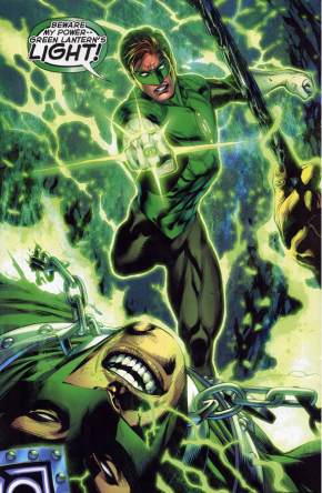 Hal Jordan Charges His Ring Using An Indigo Lantern