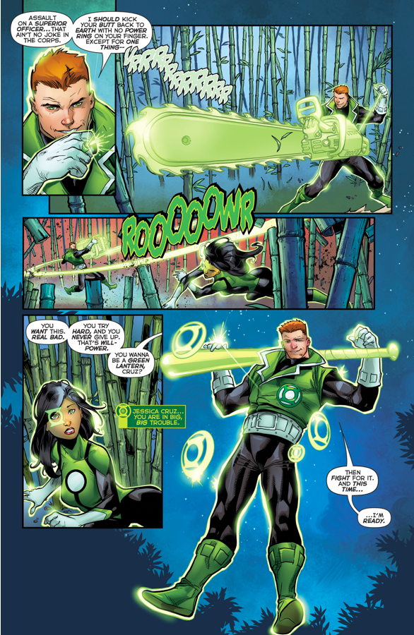 Jessica Cruz Passes Guy Gardner's Training