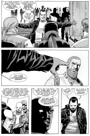 Negan Defends Rick Grimes Against The Saviors (The Walking Dead)