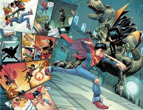 Robin VS Superboy In The Batcave (Rebirth)