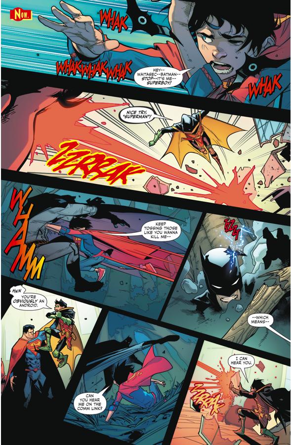 Superboy And Robin Vs Superman Batman Androids Comicnewbies