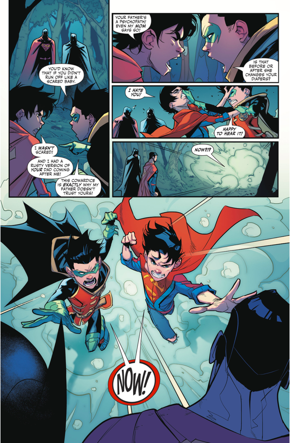 Superboy And Robin VS Superman/Batman Androids