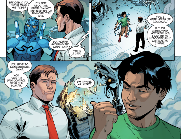 Ted Kord Trains Jaime Reyes As Blue Beetle (Injustice II)