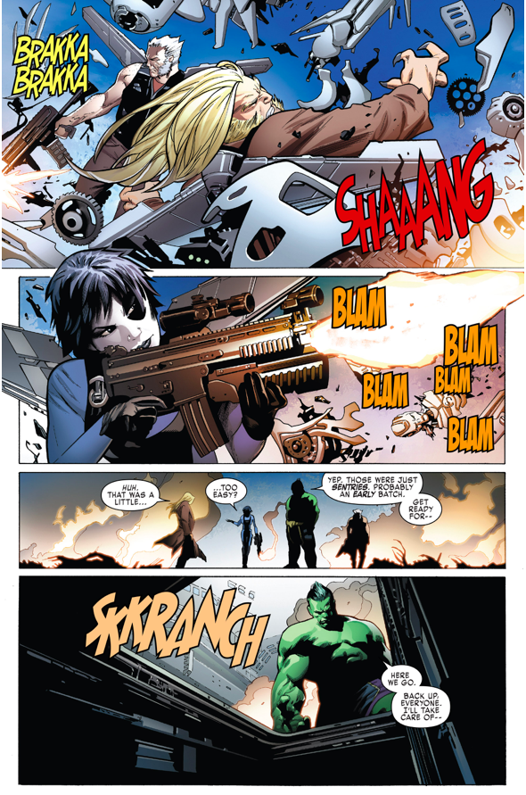 Totally Awesome Hulk VS Adamantium Cyborgs