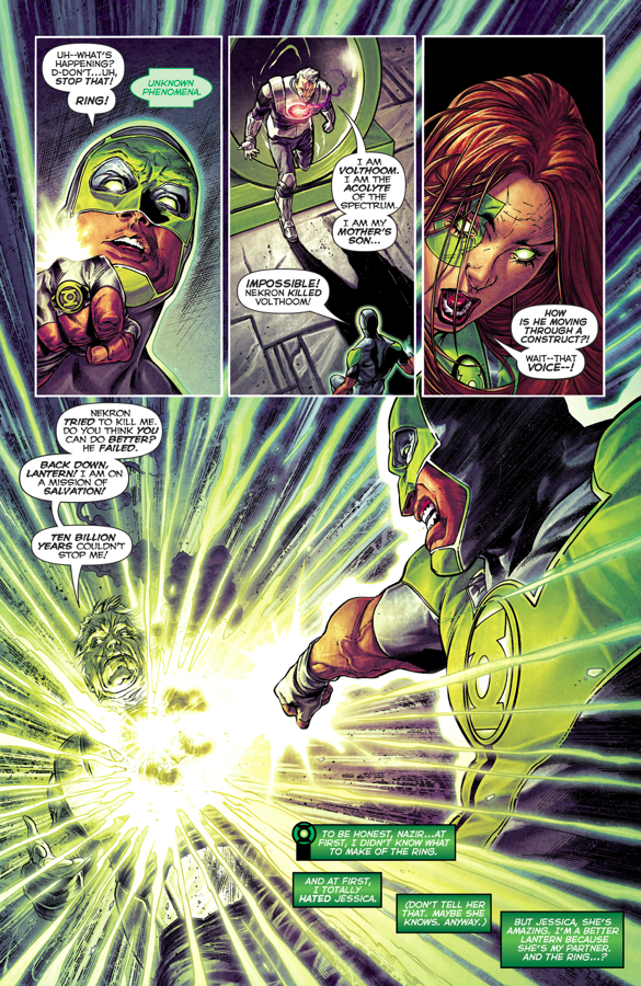 Volthoom Destroys Simon Baz's Green Lantern Ring