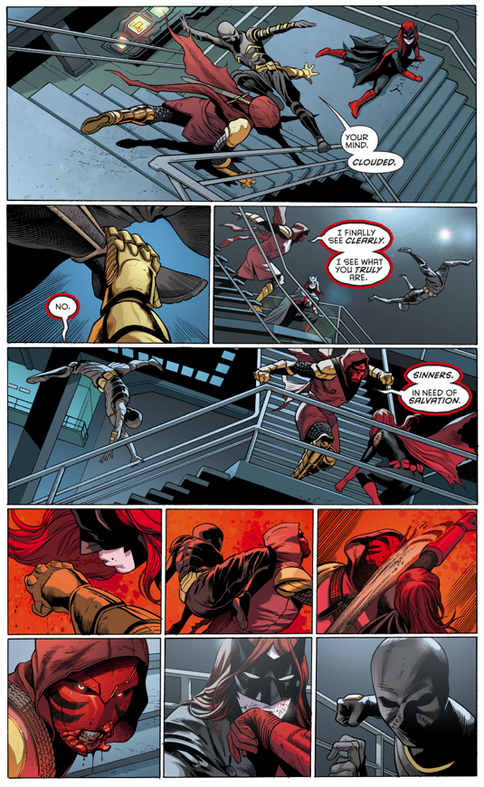 Batwoman And Orphan VS Azrael (Rebirth)