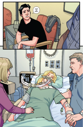 Betty Cooper Near Death After Car Crash