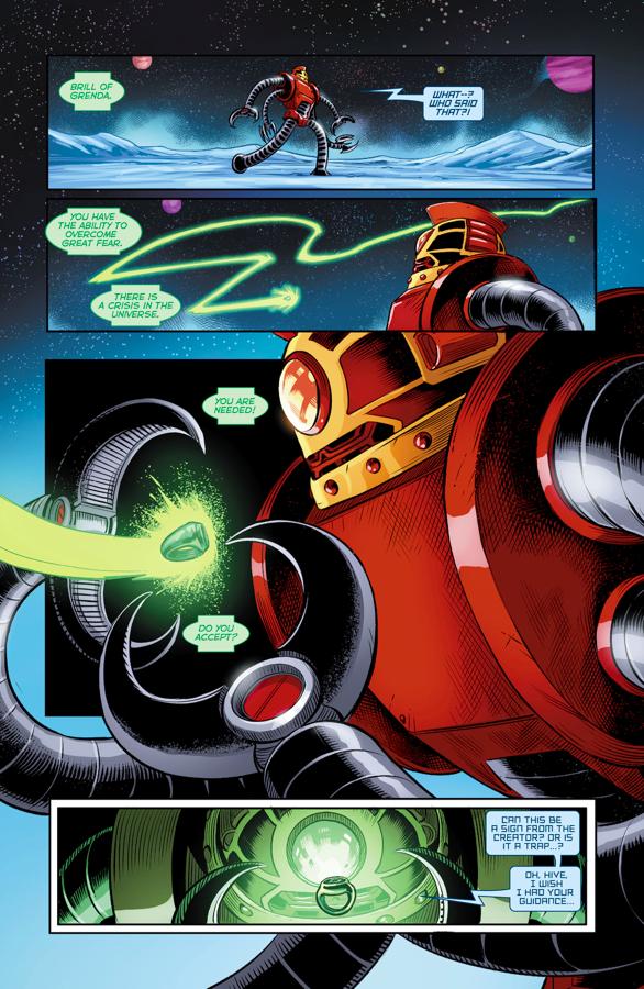 Brill Becomes A Green Lantern