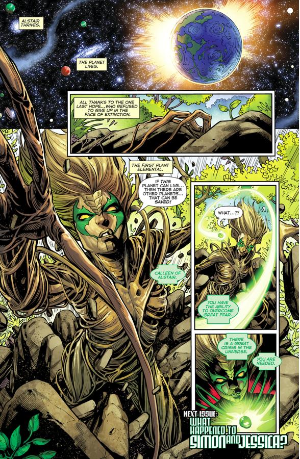 Calleen Becomes A Green Lantern