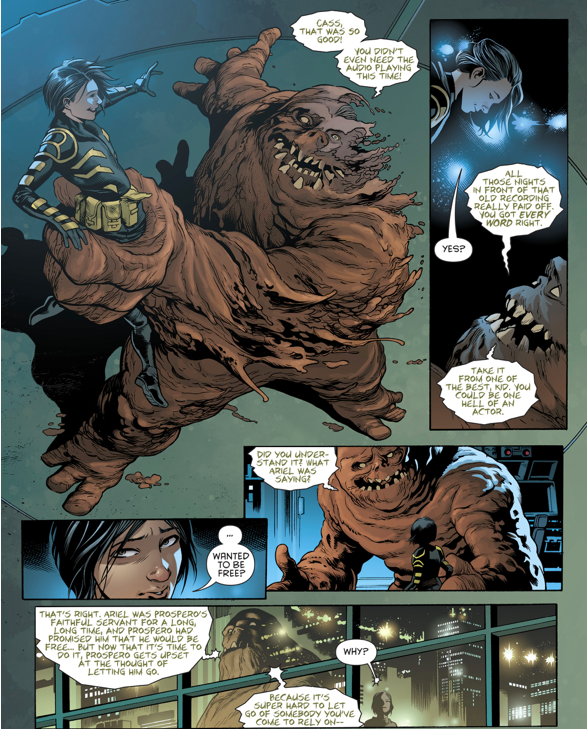 Cassandra Cain And Clayface Act A Shakespeare Scene